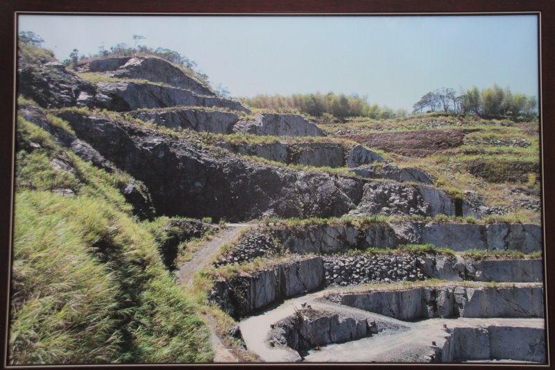 花蓮富山礦場行程 礦務局台灣採礦歷史照。(王德為攝)