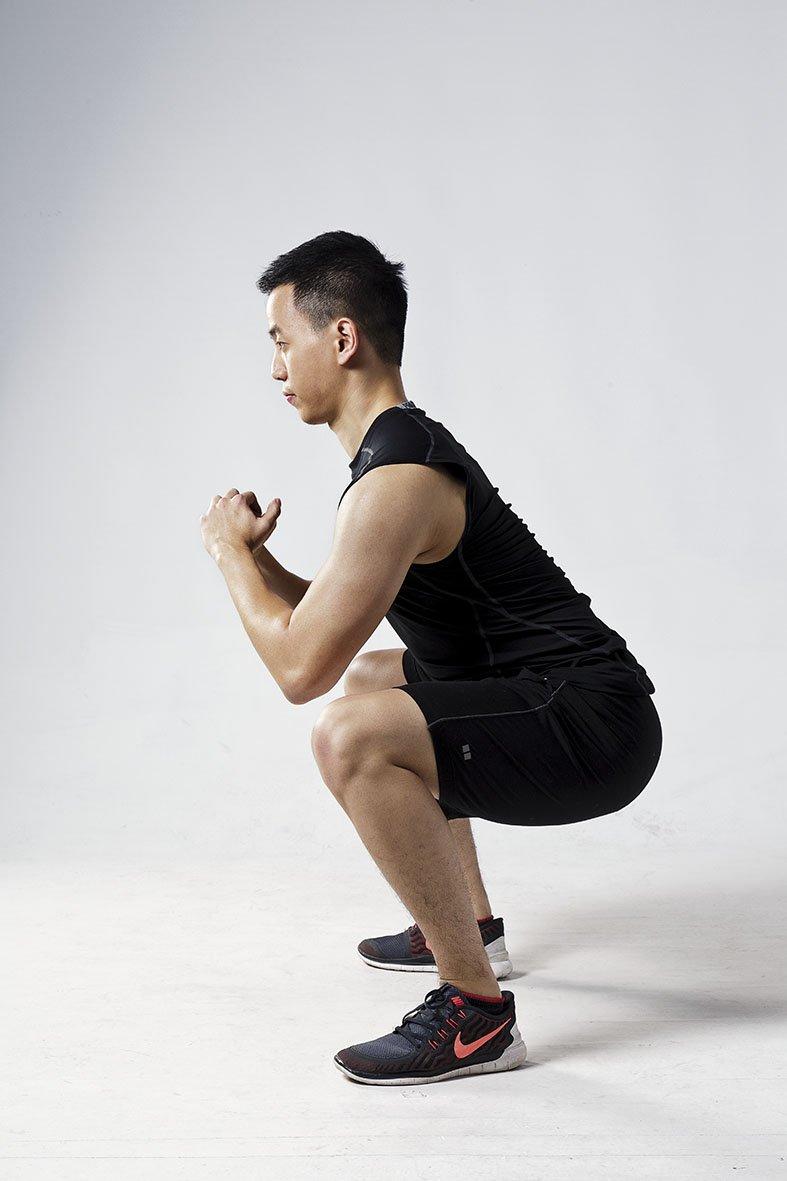 膝蓋不超過腳尖(圖/三采文化提供)