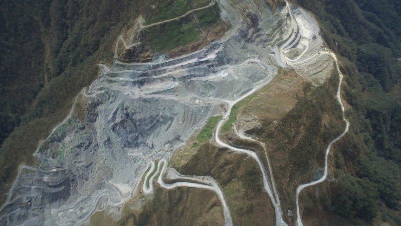 宜蘭南澳蘭崁山某礦場。專題限用一次,勿再使用。(彰化環保聯盟提供)