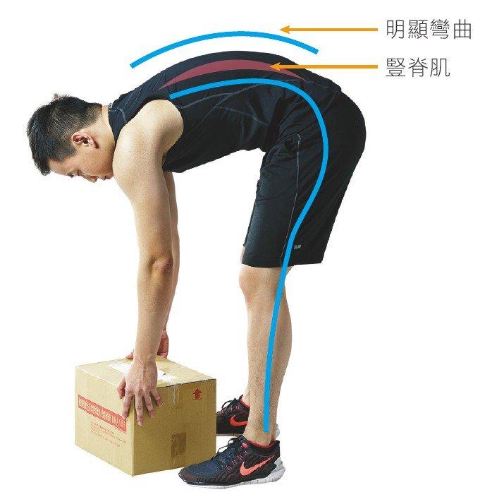 使用腰椎關節彎腰搬箱子(圖/三采文化提供)