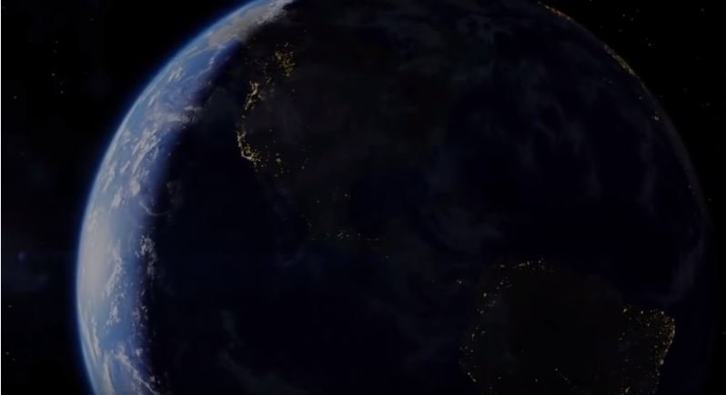 沒有電力,地球將會陷入一片漆黑。(圖/#Mind Warehouse@youtube)