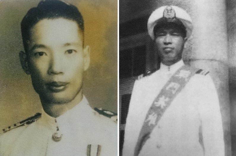 海軍名將陳慶堃(左)和梁天價(右,維基百科)