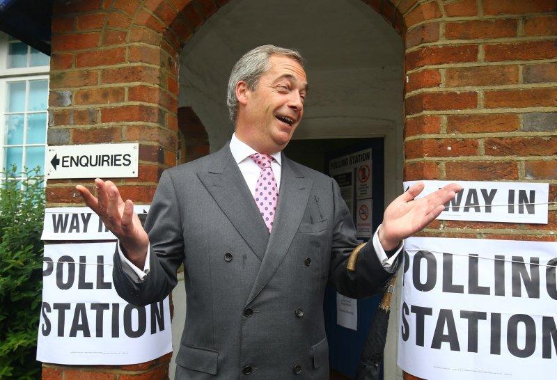 英國獨立黨(UKIP)領導人法拉吉(Nigel Farage)(美聯社)