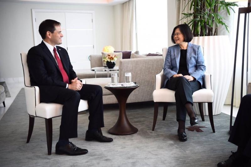 美國佛州聯邦參議員魯比歐會見蔡英文總統(魯比歐官網)