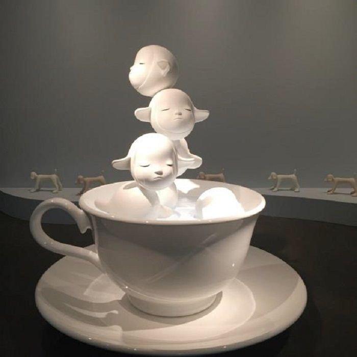 奈良美智作品〈無盡生命〉。(亞洲協會香港中心提供)