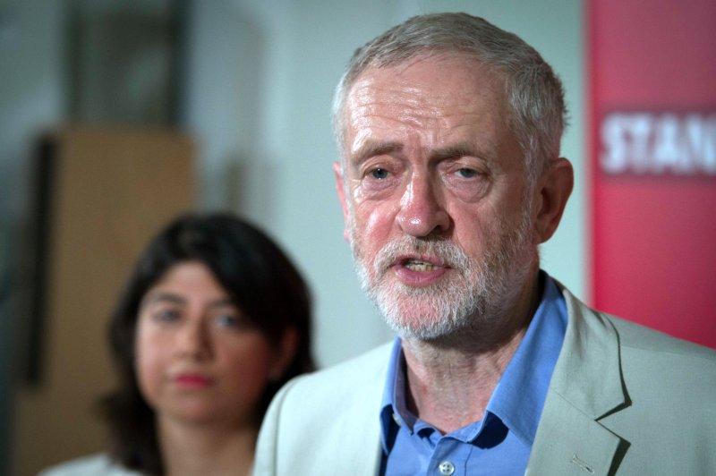 工黨黨魁柯賓(Jeremy Corbyn)。(美聯社)