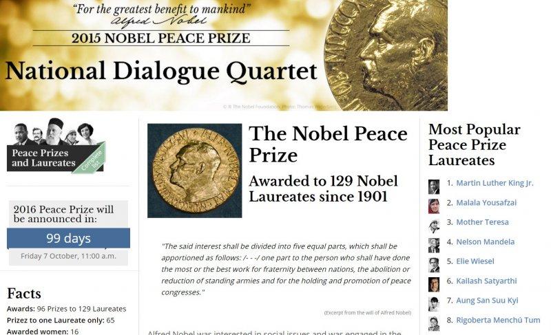 諾貝爾和平獎網站