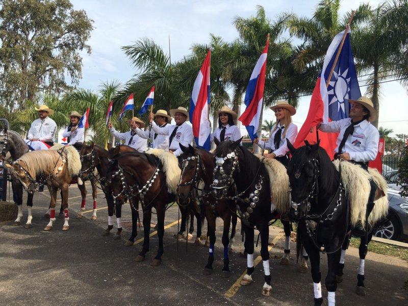 巴拉圭鄉村協會以巴拉圭牛肉,宴請總統蔡英文。(顏振凱攝)