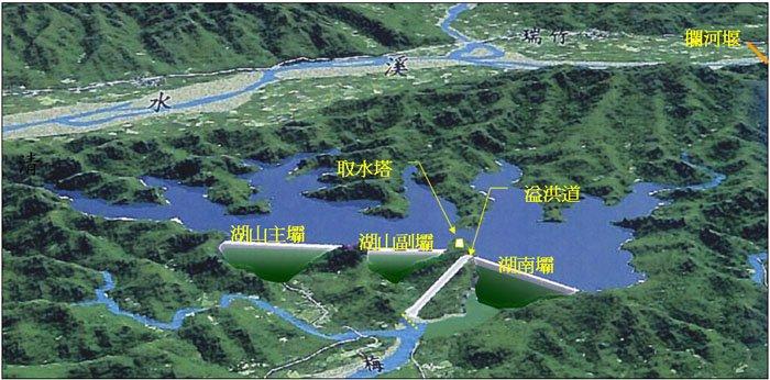 湖山水庫完工模擬圖(取自水利署中區水資源局)