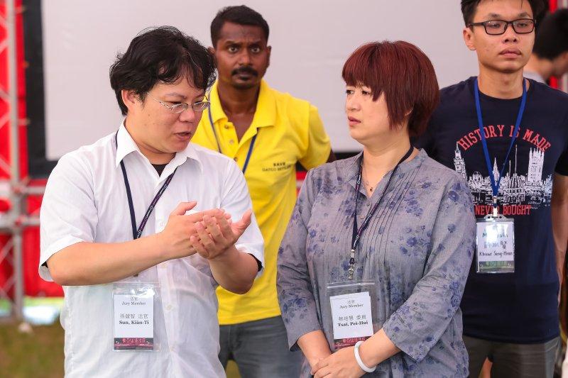 孫健智法官2日出席「東亞迫遷法庭」座談活動。(顏麟宇攝)