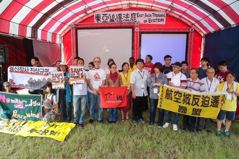 東亞迫遷法庭籌備委員會2日於華光社區遺址舉辦座談活動。(顏麟宇攝)
