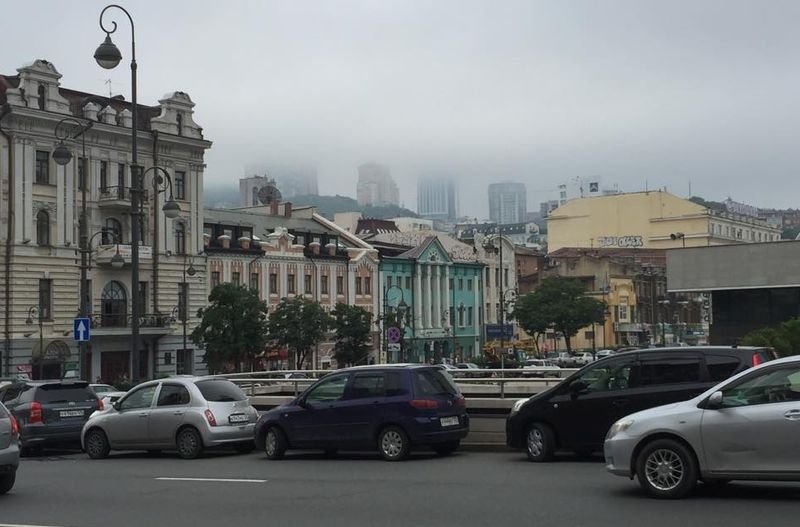 海參崴街景。(陳耀昌攝)
