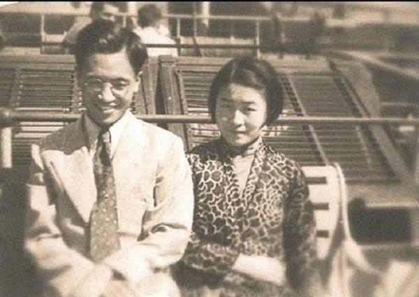 1935年,錢楊新婚,乘遊輪赴英國留學。(時報出版提供)