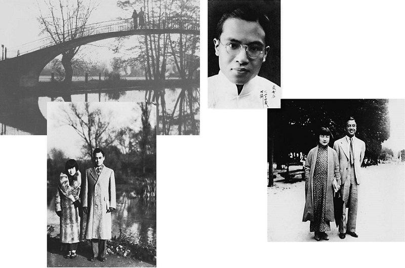 1936年,牛津大學儷影雙雙(左);1938年,巴黎盧森堡公園(右)。(時報出版提供)