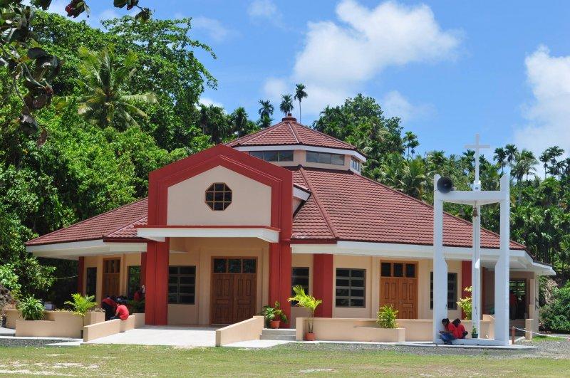 帛琉曾經被多個國家統治過,多元文化並存,圖為帛琉的天主教教堂。(圖/St. Joseph Church Koror, Palau@facebook)
