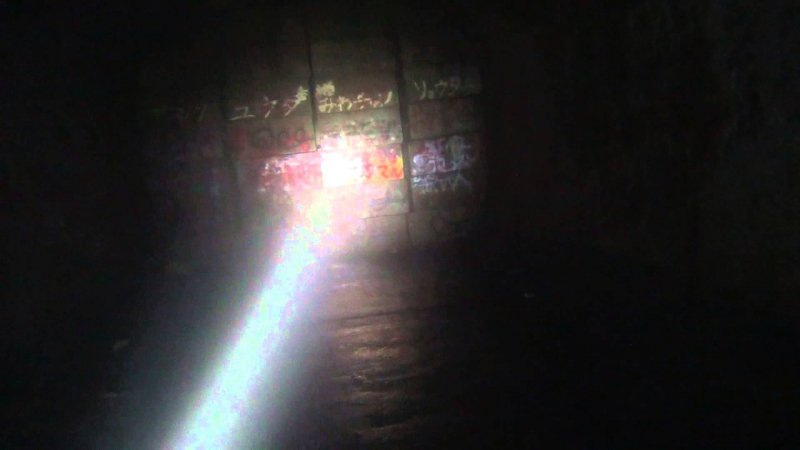 不少網友前去舊犬鳴隧道,光是入口的地方就足夠毛骨悚然。(截圖自/秋山恭介@Youtube)