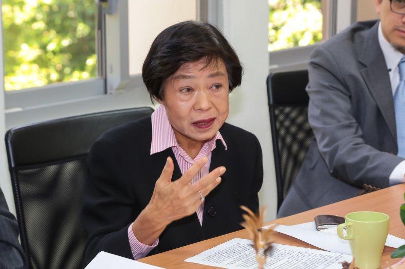 司法院長副院長被提名人林錦芳15日拜會親民黨團。(顏麟宇攝)