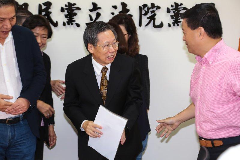 司法院長被提名人謝文定15日拜會親民黨團。(顏麟宇攝)