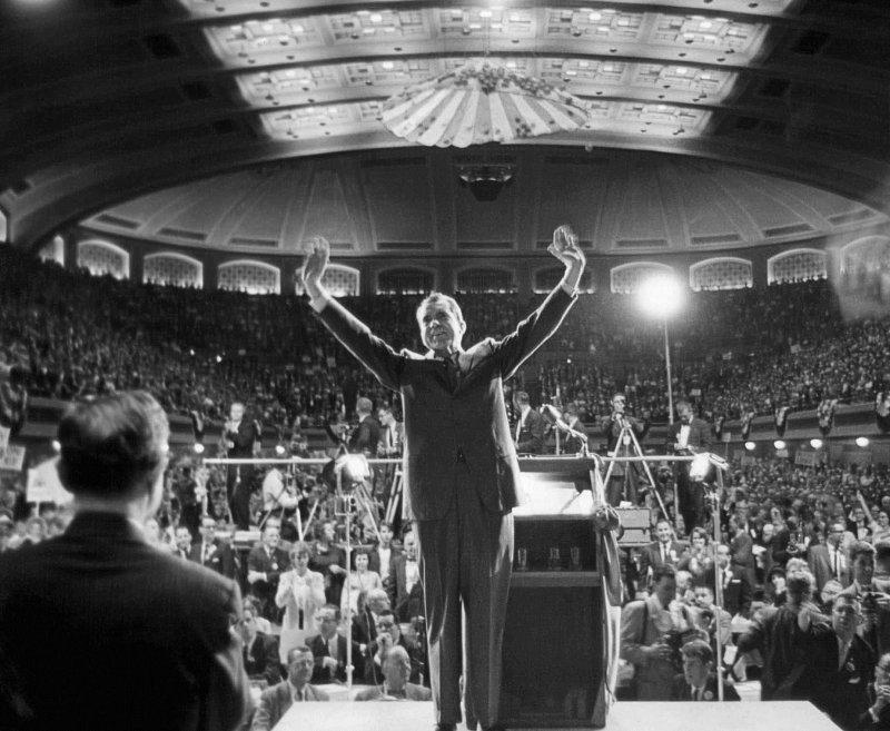 美國共和黨總統候選人川普想仿效前總統尼克森打選戰。(川普)