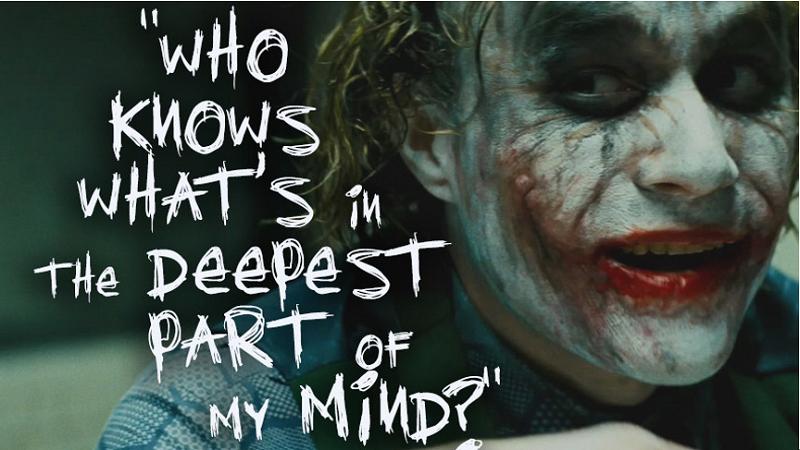 小丑的內心戲,也許只有蝙蝠俠了解。