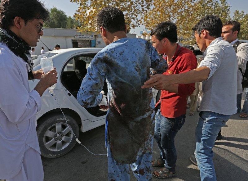 阿富汗首都喀布爾23日發生死傷慘重的恐怖攻擊,伊斯蘭國聲稱是由他們犯案(美聯社)