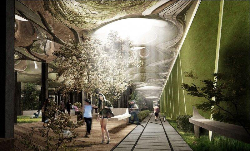 紐約市由廢棄電車站改建成的「低線公園」(Lowline Park),是全世界第一座地下公園(TheLowline@Wikipedia / CC BY-SA 3.0)