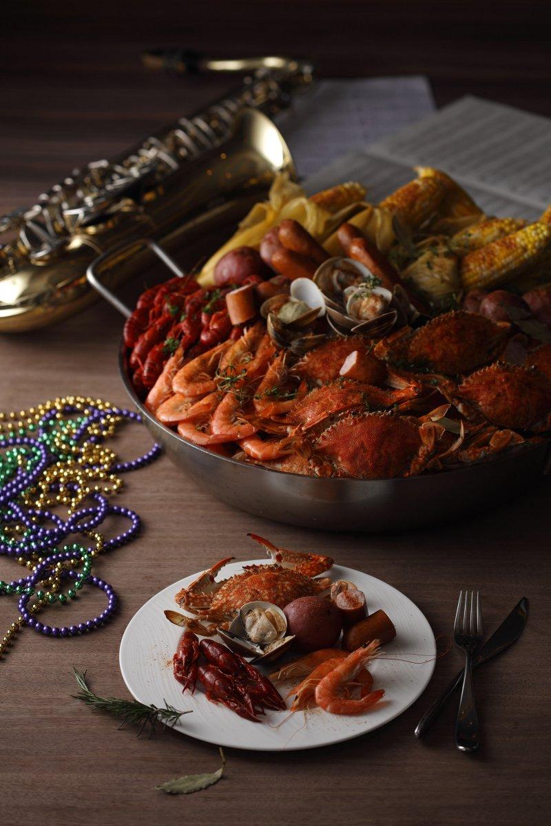 馬克.吐溫曾這樣形容著紐澳良的美食:「紐澳良食物的美味,簡直已成了一種形式的罪孽。」(圖/台北寒舍艾美酒店提供)