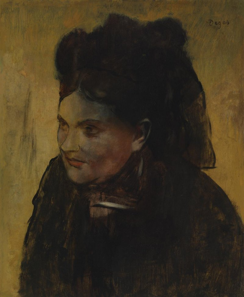 法國印象派大師竇加(Edgar Degas)的《仕女圖》畫中有畫,這是世人眼中的畫作(AP)