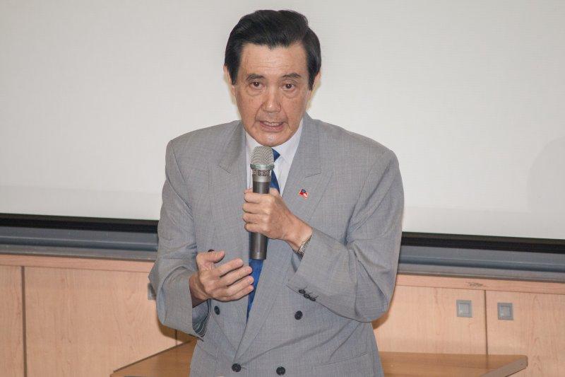馬英九出席第十屆亞洲未來領導人協會臺北論壇開幕式。(李振均攝)