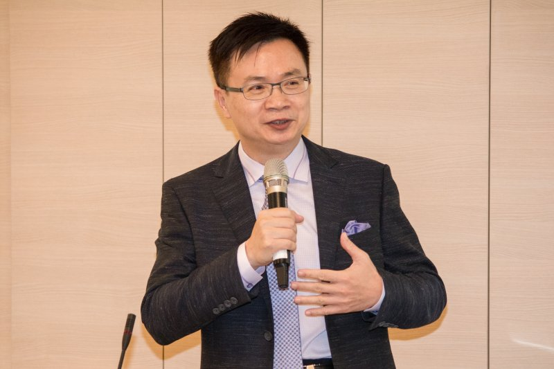 總統府新南向政策辦公室主任黃志芳於,新南向政策教育論壇發言。