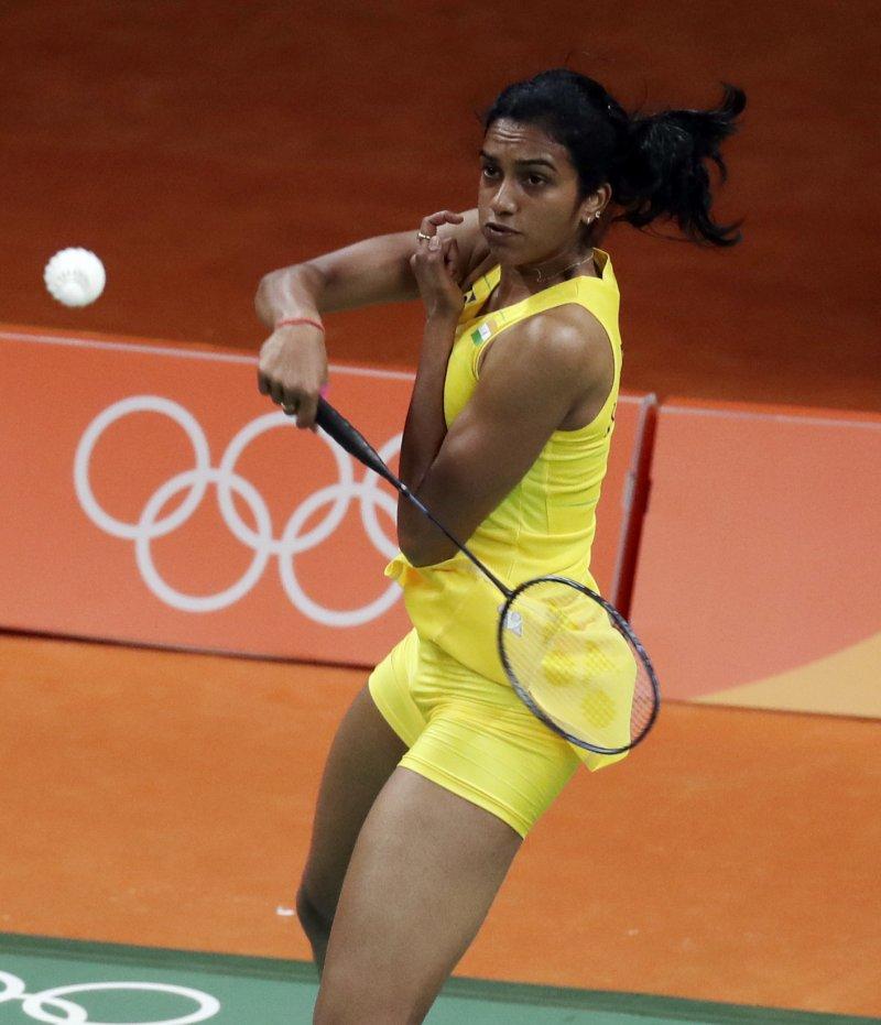 印度名將辛德胡在女子羽球單打M組勝出,接下來將與我國球后戴資穎對決。(美聯社)