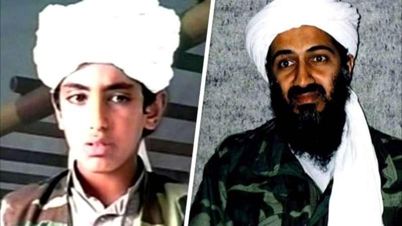 賓拉登(Osama bin Laden)與兒子哈姆札(Hamza bin Laden)(取自YouTube)