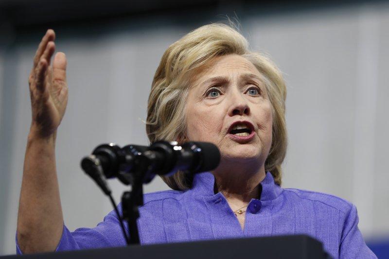美國民主黨總統候選人希拉蕊(AP)