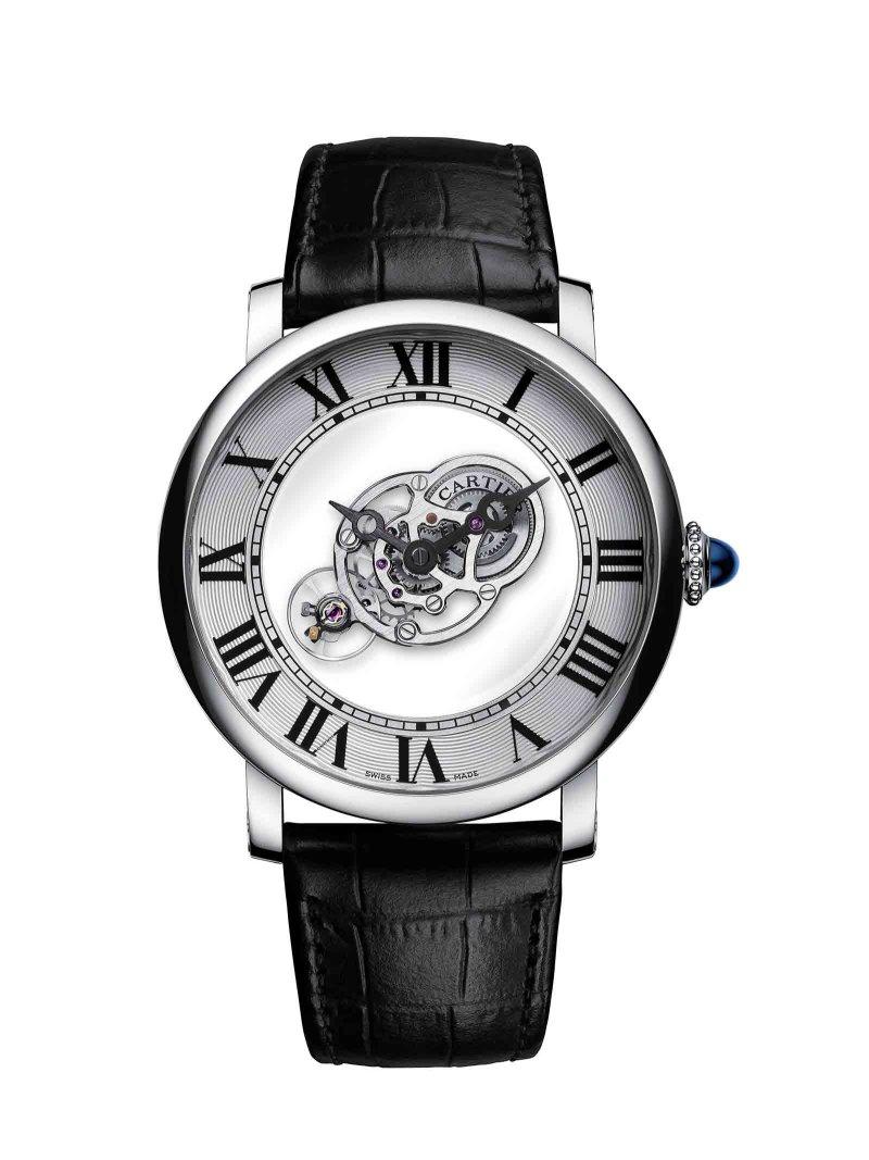 Rotonde de Cartier天體運轉式神秘陀飛輪腕錶,將卡地亞百年來的神秘美學運用得爐火純青。(圖/Cartier提供)