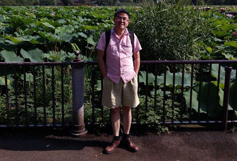 訪問東京上野公園。(作者提供)