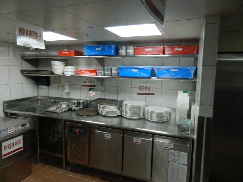 穆斯林認證專用廚房。(高市觀光局提供)