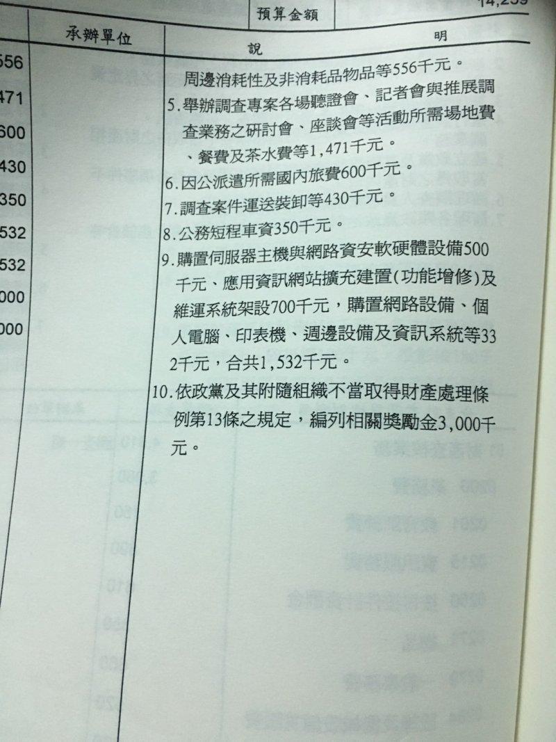 不當黨產處理委員會依《政黨及其附隨組織不當取得財產處理條例》第13條規定,編列300萬舉發獎勵金,鼓勵民眾一同來檢舉不當黨產。(陳耀宗攝)