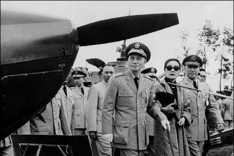1961年蔣介石在台灣。