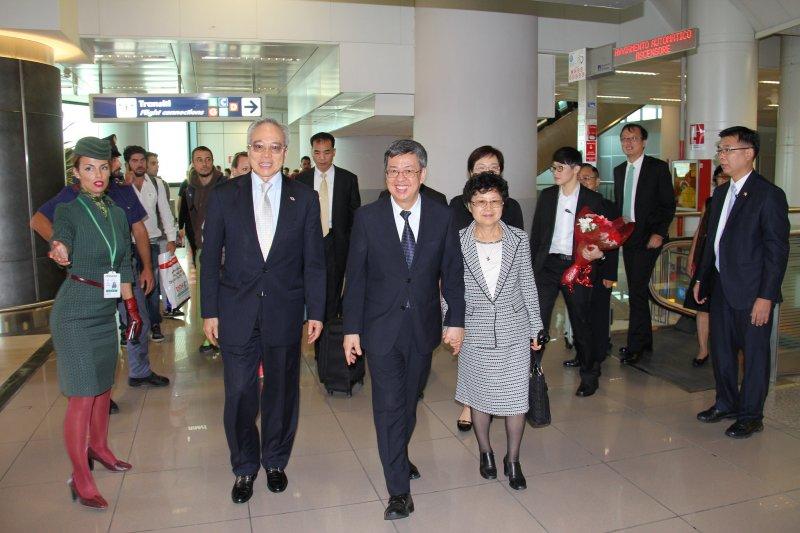 副總統陳建仁伉儷出訪梵蒂岡,參加德蕾莎修女封聖儀式。(取自總統府flickr)