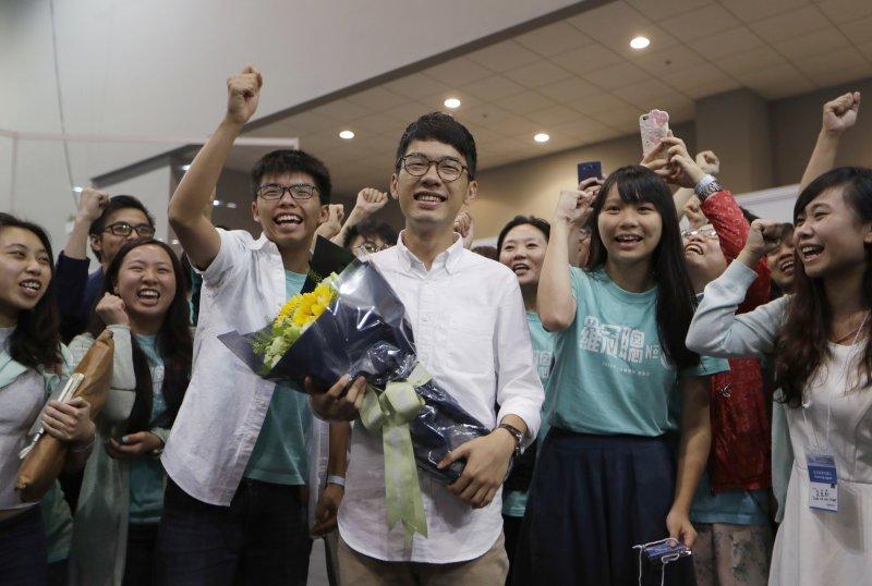 香港立法會選舉本土派當選人羅冠聰(AP)