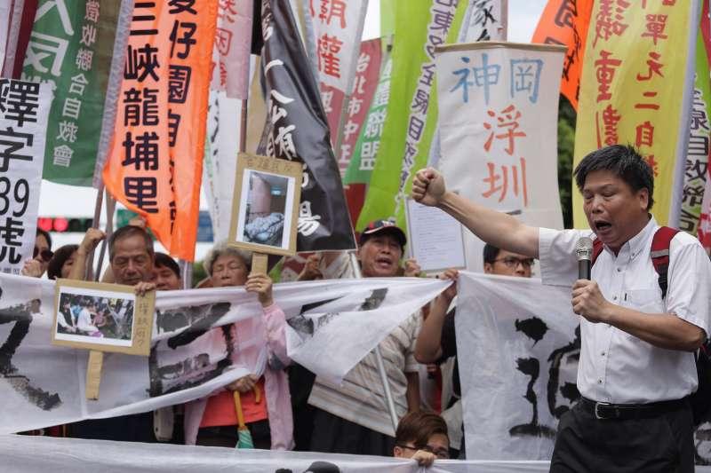 2016-09-05-民團凱道抗議土地徵收反迫遷-徐世榮02-曾原信攝