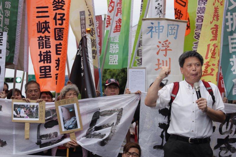 2016-09-05-民團凱道抗議土地徵收反迫遷-徐世榮-曾原信攝