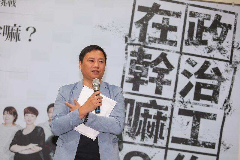 20160906-民運人士王丹6日出席新世代參政的勇氣與挑戰「政治工作在幹嘛?」新書發表會。(顏麟宇攝)
