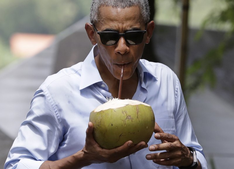 歐巴馬訪寮國。(美聯社)