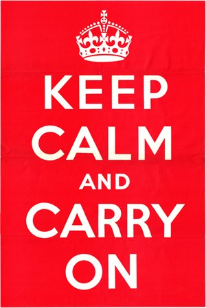 該海報是二戰期間英國政府製作的宣傳海報,原計劃應對納粹占領英國的情況。(維基百科/public domain)