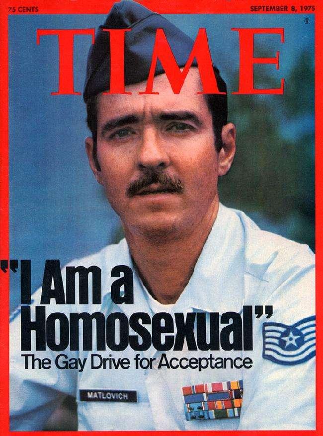 美國空軍中士馬特洛維奇(Leonard Matlovich)早在41年前就勇敢挑戰軍中不平等禁令。(翻攝leonardmatlovich.com)