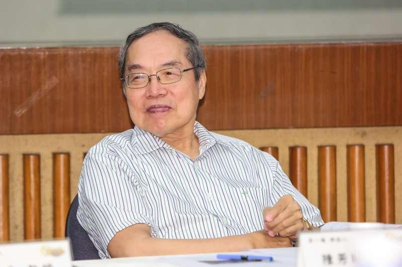 20160910-政大台文所教授陳芳明10日出席「台灣的悲愴年代─從皇民化到二二八」研討會。(顏麟宇攝)