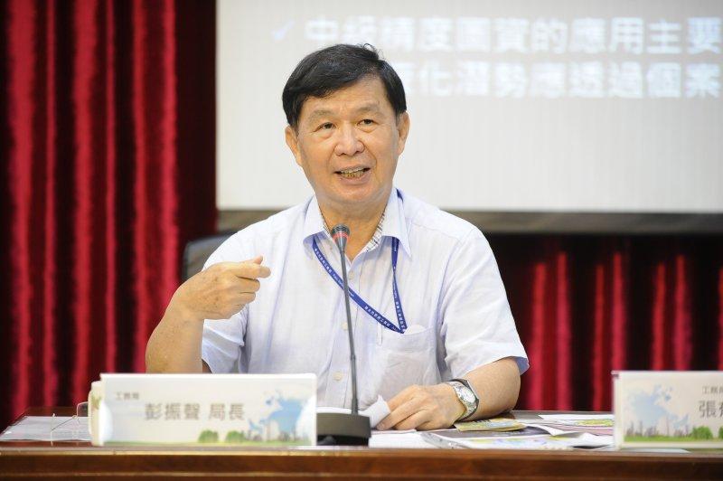 台北市政府公布土壤液化潛勢圖,工務局局長彭振聲-甘岱民攝