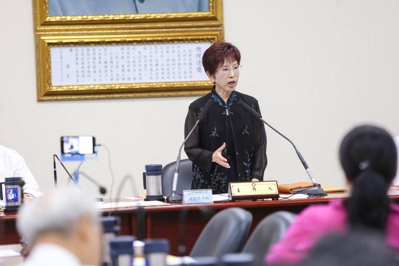 20160921-國民黨主席洪秀柱21日出席主持國民黨中常會。(顏麟宇攝)