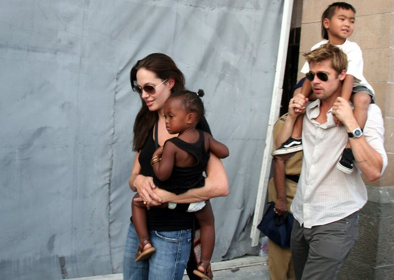 安潔莉娜裘莉(Angelina Jolie)與布萊德彼特(Brad Pitt)(AP)